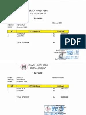 Slip Gaji Pdf : SALARY, SLIP.pdf