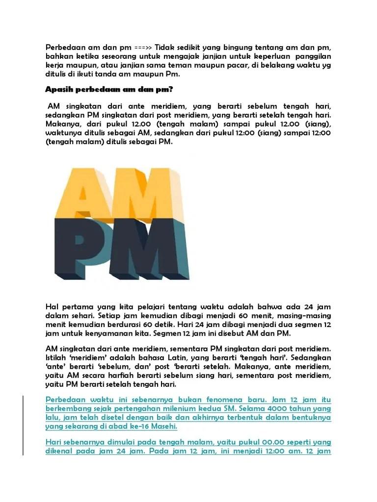 AM PM Adalah : Pengertian dan Perbedaan antara AM dan PM
