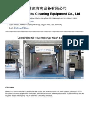 Leisuwash : leisuwash, Leisuwash, Touchless, System, Brochure, Electric, Motor, Servomechanism