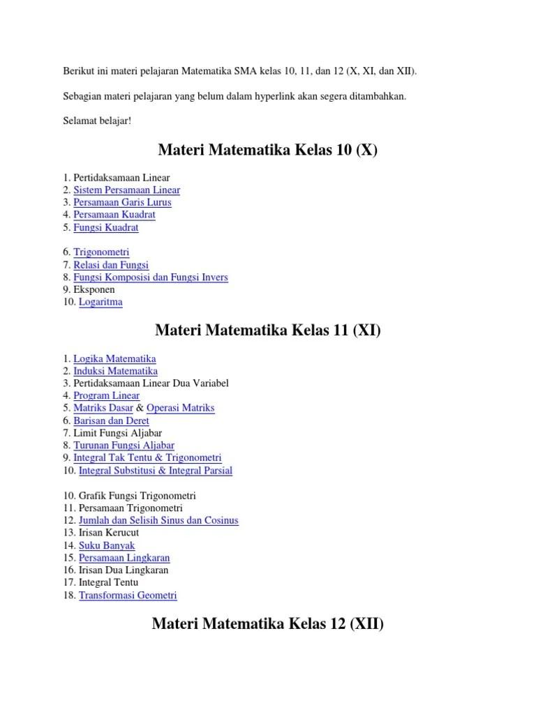 Rangkuman Materi Fisika Lengkap Kelas 10 SMA/SMK/MA