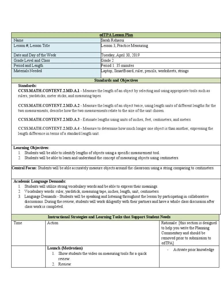 medium resolution of 2nd grade measurement lesson   Measurement   Motivation
