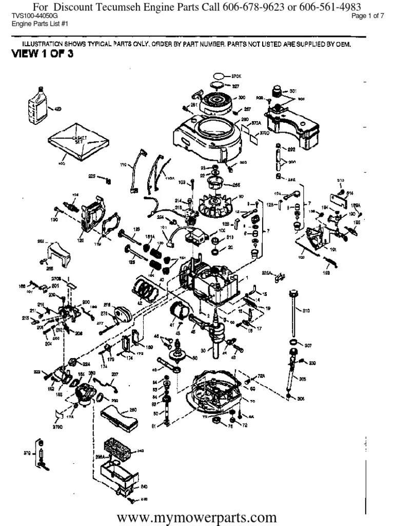 Tecumseh Engine Parts Diagram Download : tecumseh, engine, parts, diagram, download, Tecumseh, Engine, Parts, Manual, TVS100, 44050G, Piston, Vehicles