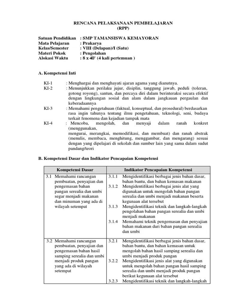 Pengolahan Serealia Dan Umbi Di Lingkungan Sekitar : pengolahan, serealia, lingkungan, sekitar, PRAKARYA, Pengolahan.docx