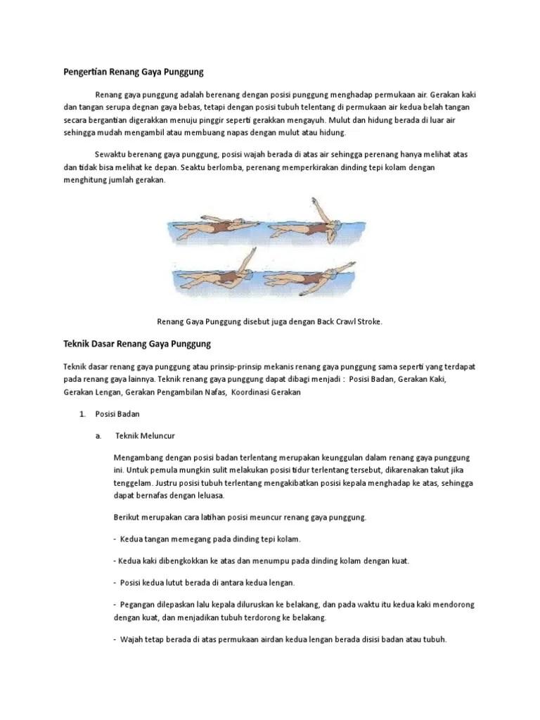 Gerakan Kaki Renang Gaya Punggung Dimulai Dari : gerakan, renang, punggung, dimulai, Renang, Punggung.docx