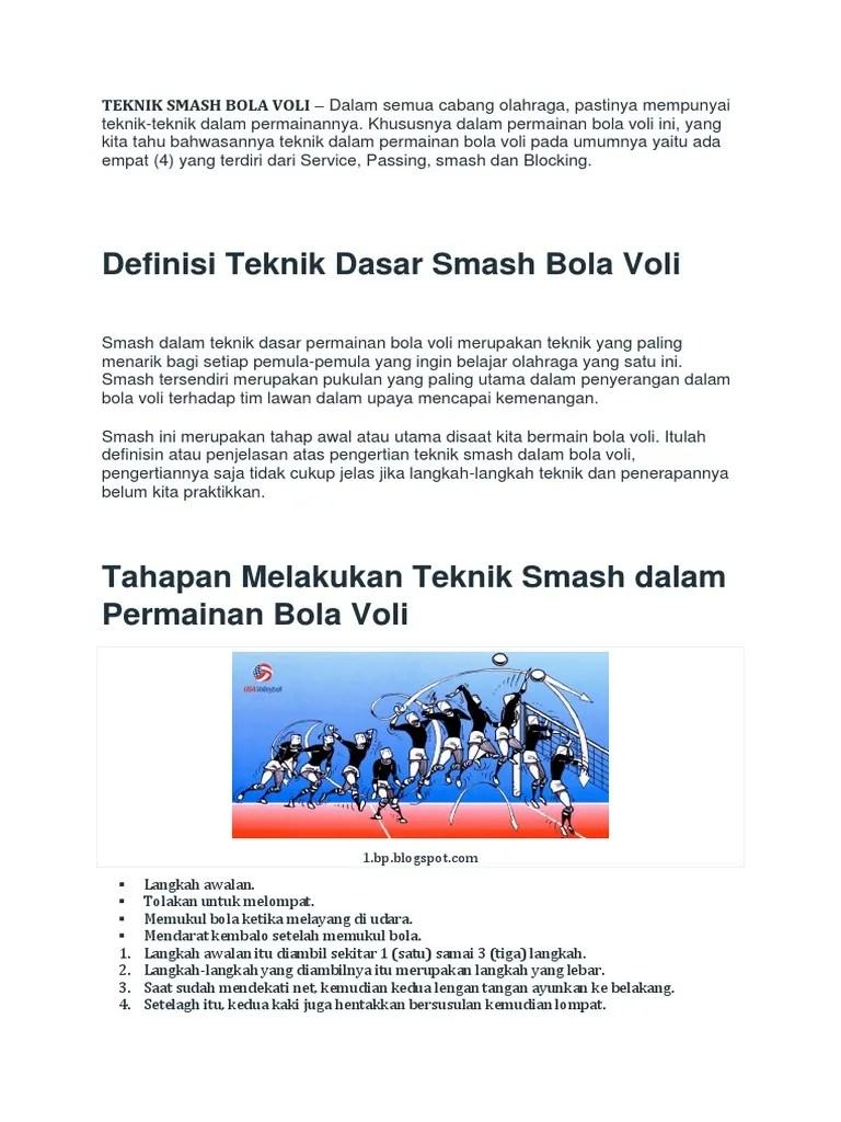Teknik Smash Volly : teknik, smash, volly, Definisi, Teknik, Dasar, Smash