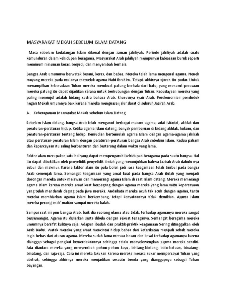 Sejarah Mekah Sebelum Islam Datang : sejarah, mekah, sebelum, islam, datang, MASYARAKAT, MEKAh