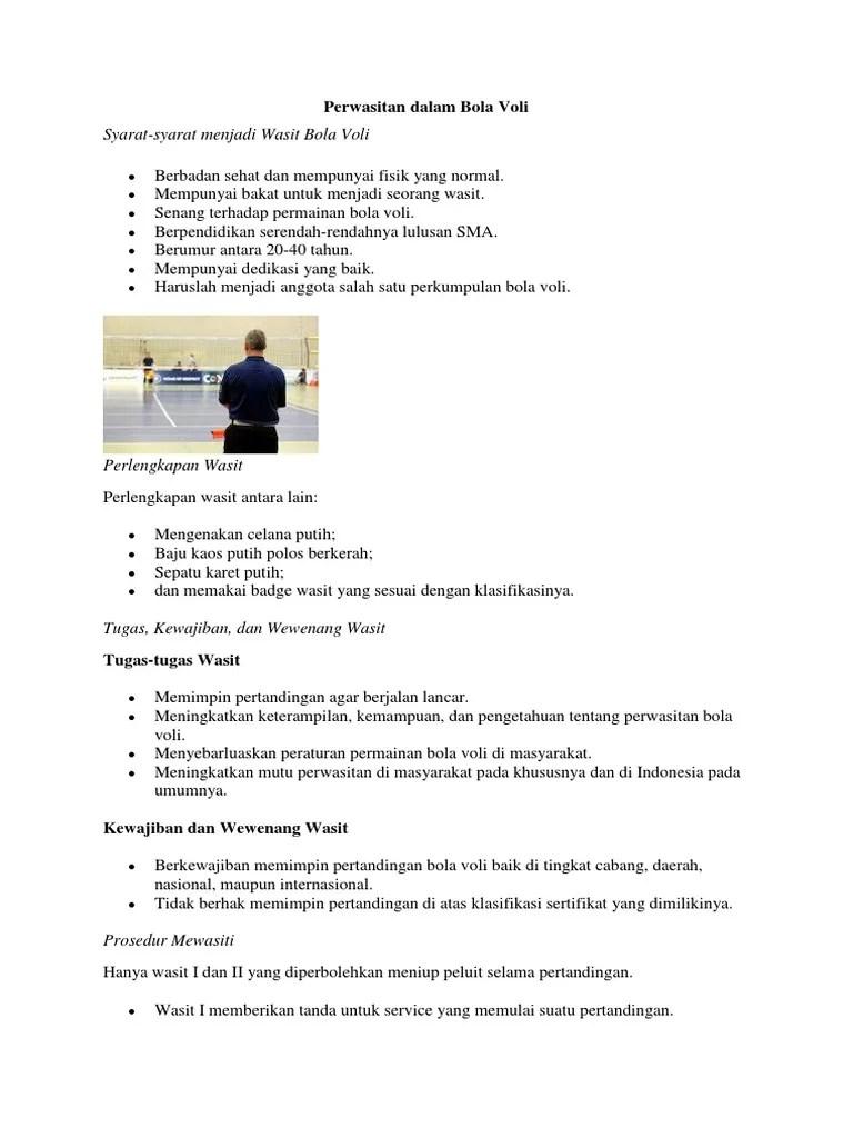 Peraturan Perwasitan Bola Voli : peraturan, perwasitan, Perwasitan, Dalam