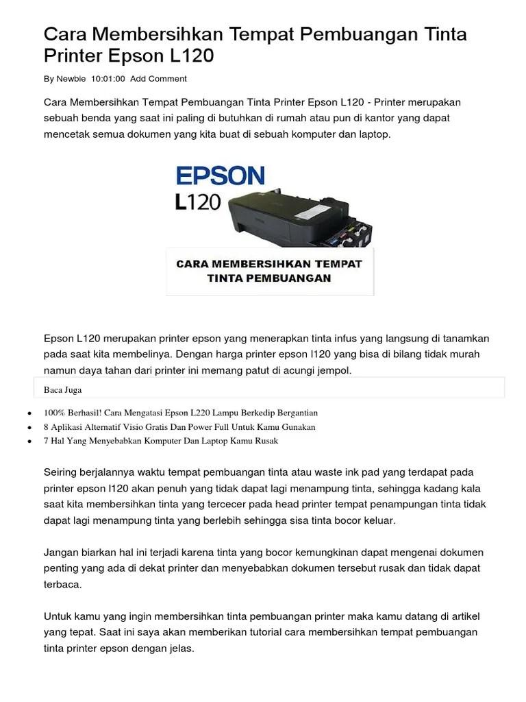 Lampu Printer Epson L120 Berkedip : lampu, printer, epson, berkedip, Mengatasi, Printer, Epson, Lampu, Berkedip, Bersamaan
