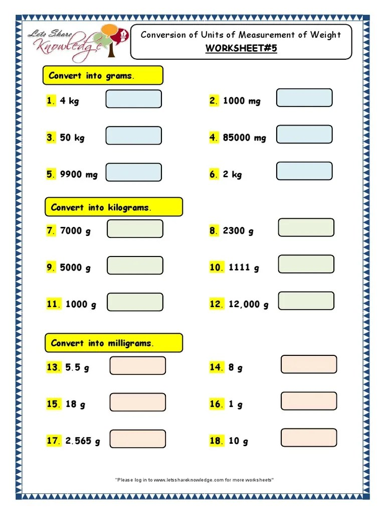 medium resolution of Grade 3 Maths Worksheets Conversion of Units of Measurement of Length 5