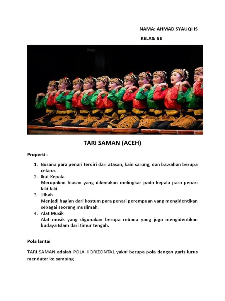Tari Saman Dan Propertinya : saman, propertinya, Gambar, Properti, Saman, VisitBandaAceh.com