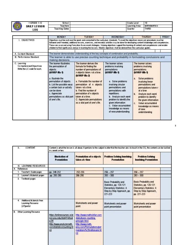 medium resolution of DLL _WEK1_LC33-35   Permutation   Learning