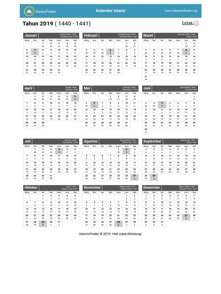 Kalender Hijriyah 1440 Pdf : kalender, hijriyah, Monthly, Islamic, Calendar.pdf, Abrahamic, Religions