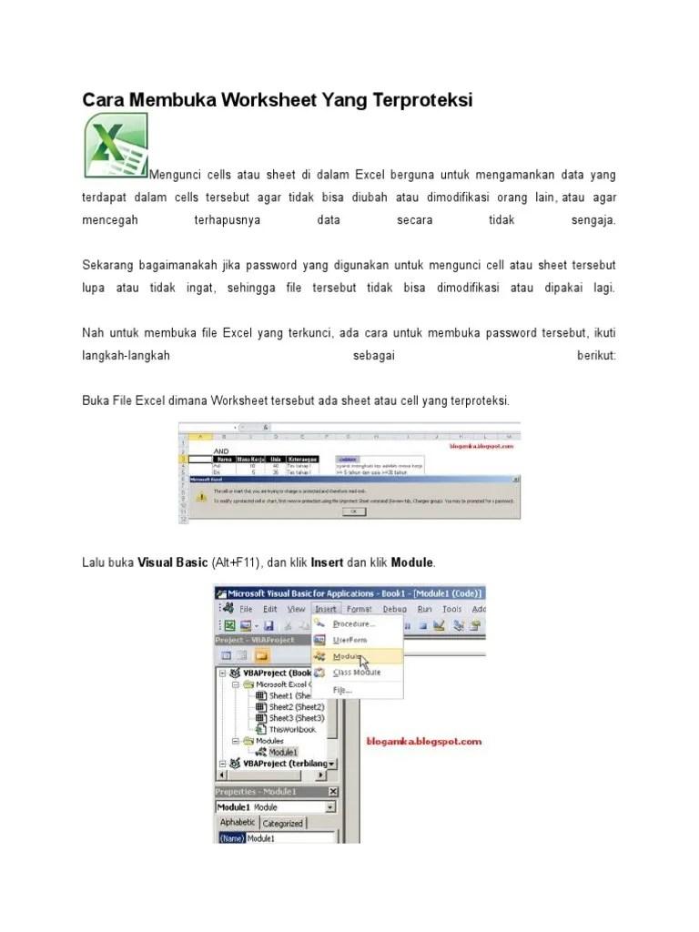 Cara Membuka Workbook : membuka, workbook, Membuka, Worksheet, Terproteksi.docx