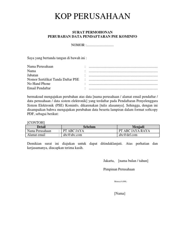 Contoh Surat Permohonan Perubahan Data : contoh, surat, permohonan, perubahan, FORM-SURAT-PERMOHONAN-PERUBAHAN-DATA.docx