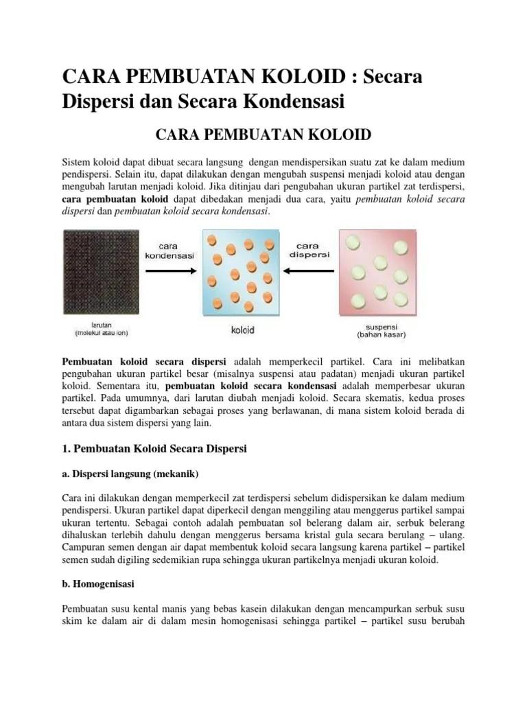 Pembuatan Koloid Dengan Cara Kondensasi : pembuatan, koloid, dengan, kondensasi, PEMBUATAN, KOLOID.docx