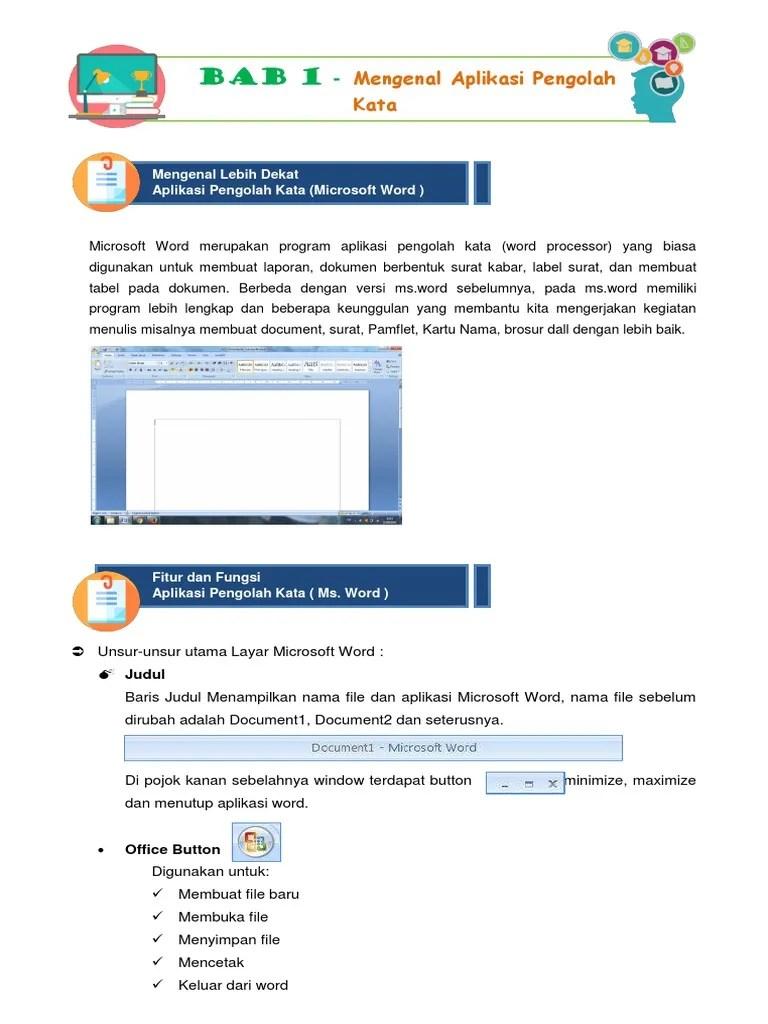 Microsoft Word Merupakan Aplikasi Pengolah : microsoft, merupakan, aplikasi, pengolah, Mengenal, Aplikasi, Pengolah