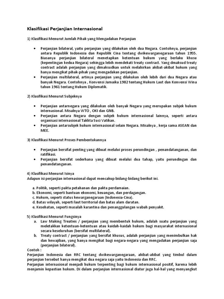 Klasifikasi Perjanjian Internasional : klasifikasi, perjanjian, internasional, Contoh, Perjanjian, Internasional, Bermanfaat, Bangsa, Indonesia, Python