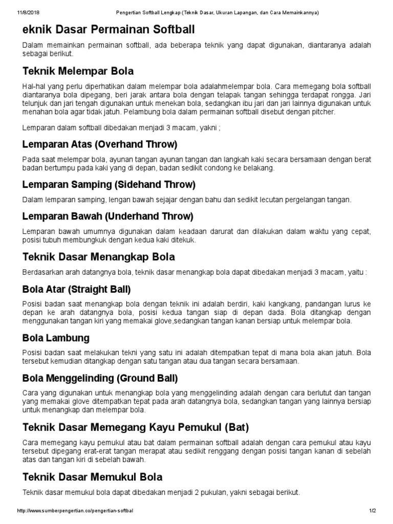 Pengertian Softball : pengertian, softball, Pengertian, Softball, Lengkap, (Teknik, Dasar,, Ukuran, Lapangan,, Memainkannya)