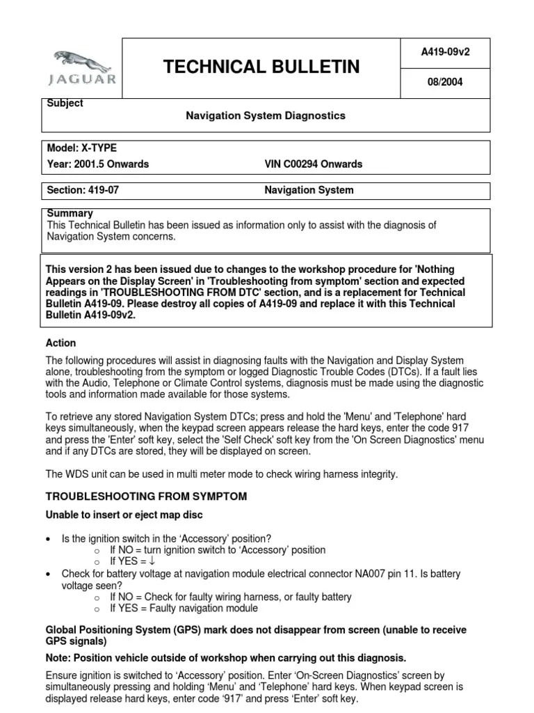 jaguar x type navigation system diagnostics global positioning jaguar x type wiring harness navigation [ 768 x 1024 Pixel ]