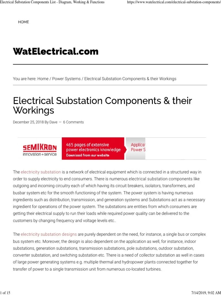 small resolution of electrical substation components list diagram working functions electrical substation electric current