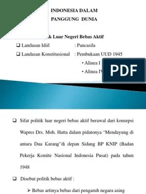Landasan Politik Luar Negeri Indonesia : landasan, politik, negeri, indonesia, Landasan, Politik, Negeri, Bebas, Aktif