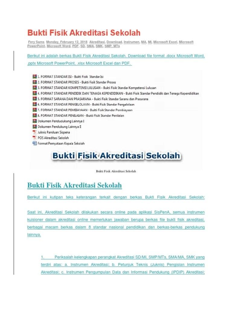 Download Bukti Fisik Akreditasi Smk : download, bukti, fisik, akreditasi, Bukti, Fisik, Akreditasi, Sekolah