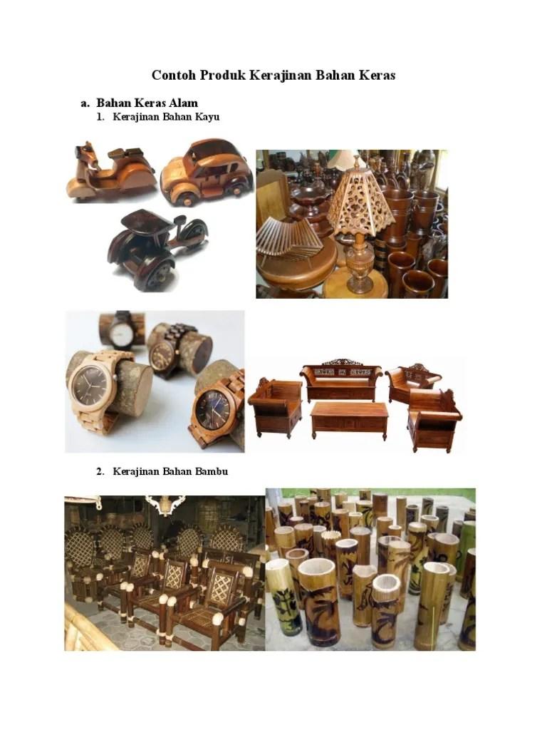 Kerajinan Bahan Keras : kerajinan, bahan, keras, Tugas, Produk, Kerajinan, Bahan, Keras