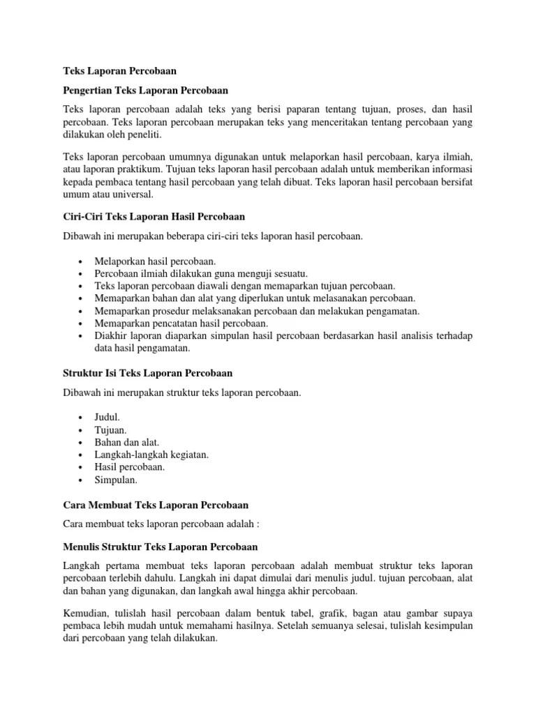 Contoh Laporan Teks Percobaan : contoh, laporan, percobaan, Laporan, Percobaan.docx