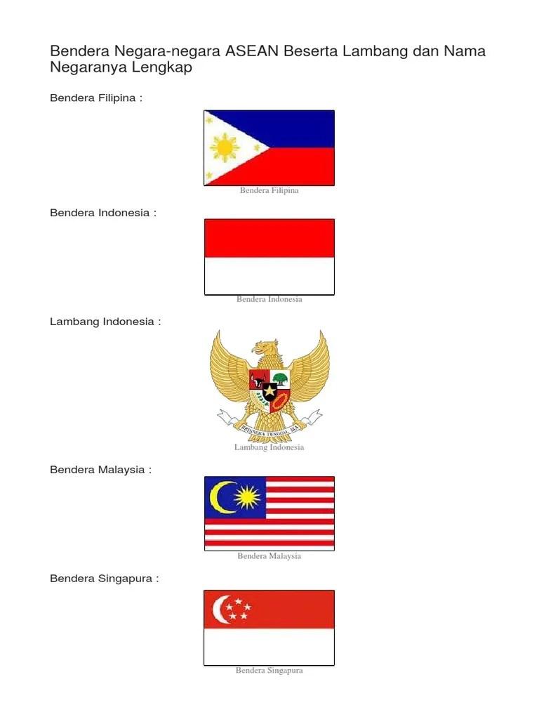 Bendera Dan Lambang Negara Asean : bendera, lambang, negara, asean, Bendera, Negara, ASEAN, LAMBANGNYA.docx