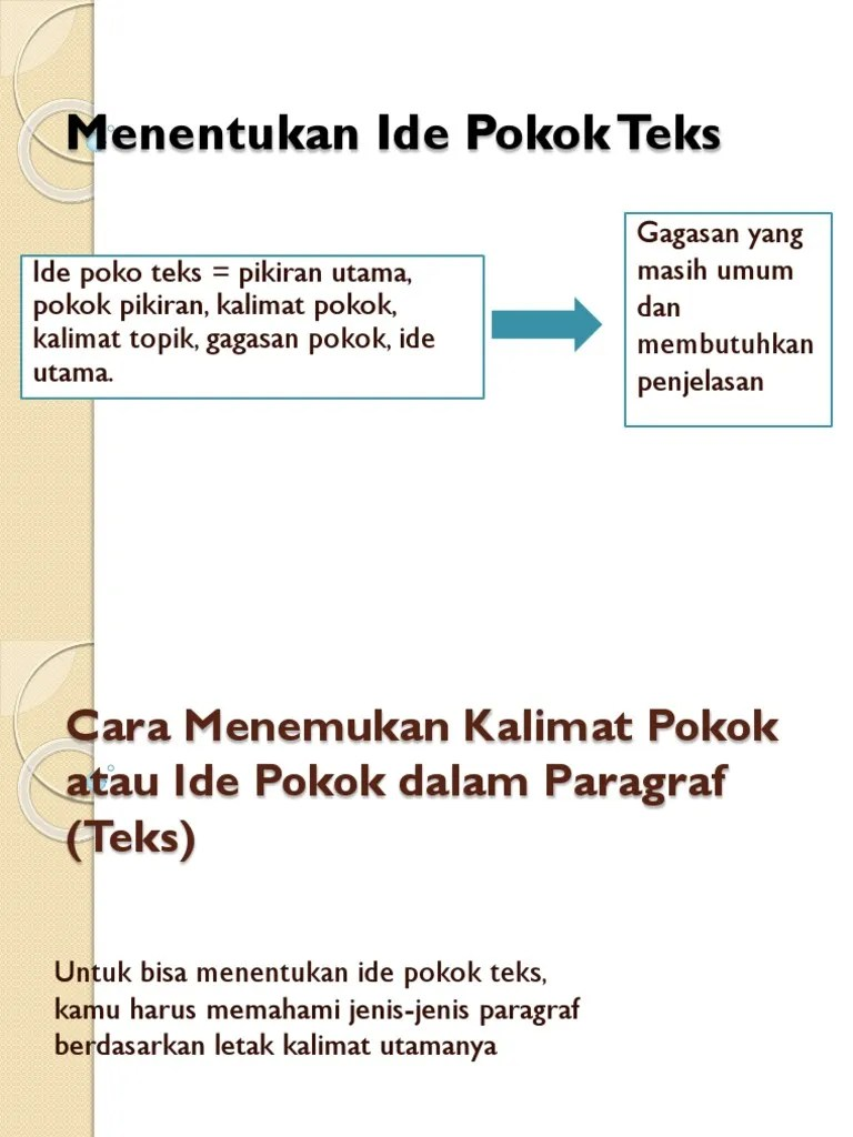 Secara Umum Ide Pokok Berada Di : secara, pokok, berada, Menentukan, Pokok.pptx
