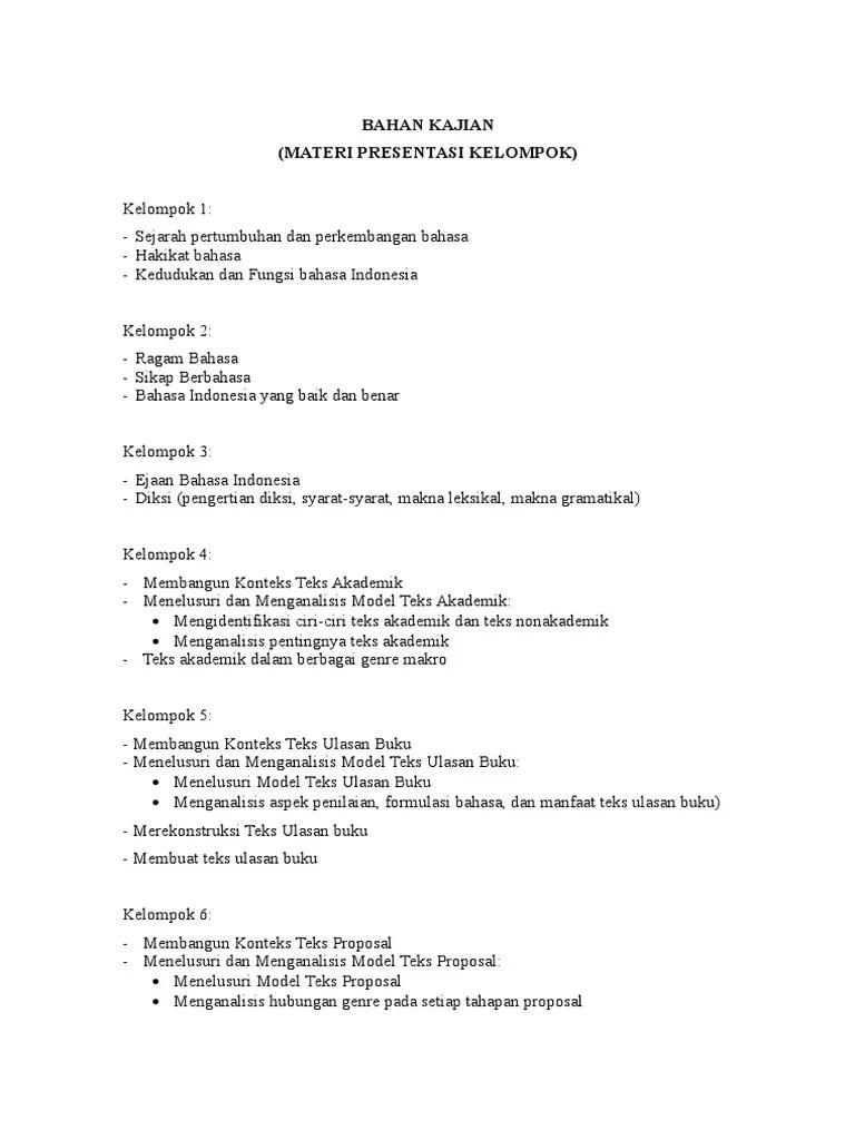 Ciri Ciri Proposal Yang Baik : proposal, MATERI, DISKUSI, BAHASA, INDONESIA.doc