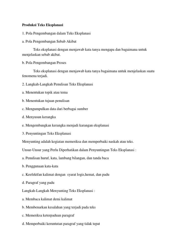 Langkah Langkah Penulisan Teks Eksplanasi : langkah, penulisan, eksplanasi, Langkah-Langkah, Menyunting, Eksplanasi