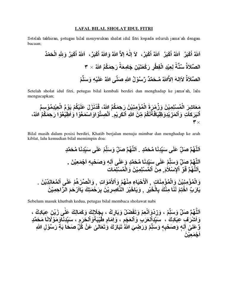 Bilal Sholat Idul Fitri : bilal, sholat, fitri, LAFAL, BILAL, SHOLAT, FITRI.docx