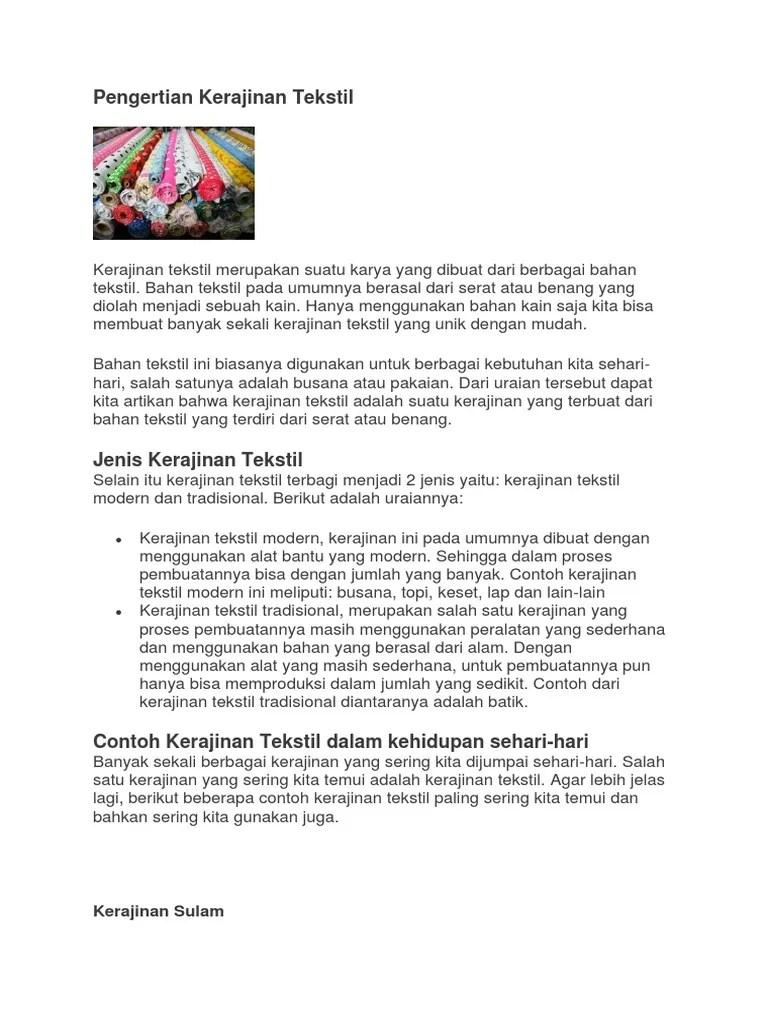 Apa Yang Dimaksud Dengan Kerajinan Tekstil : dimaksud, dengan, kerajinan, tekstil, Pengertian, Kerajinan, Tekstil, 2.docx