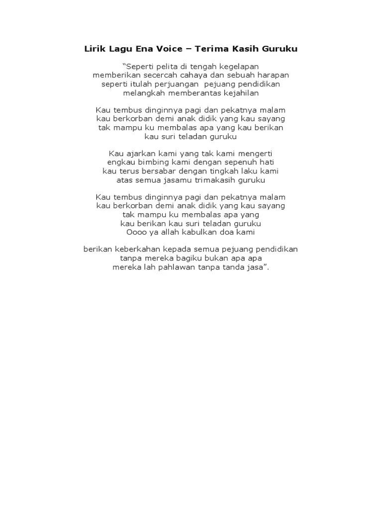 Lirik Lagu Perjuangan Dan Doa : lirik, perjuangan, Lirik, Voice