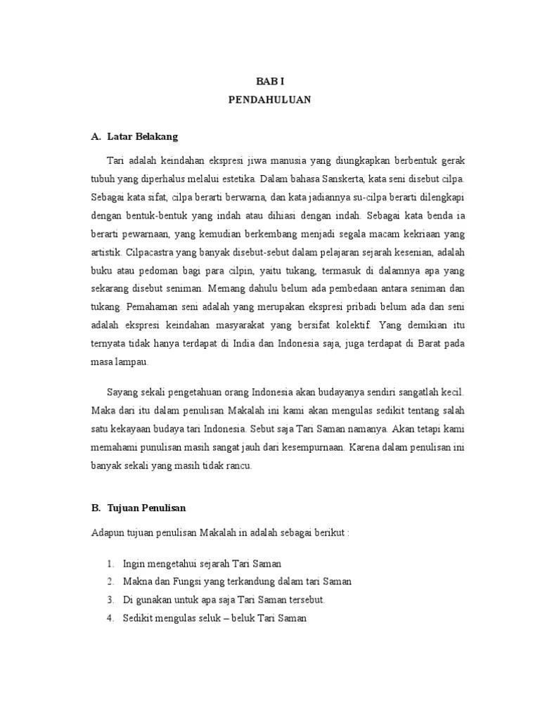 Deskripsi Tentang Tari Saman : deskripsi, tentang, saman, Makalah, Saman