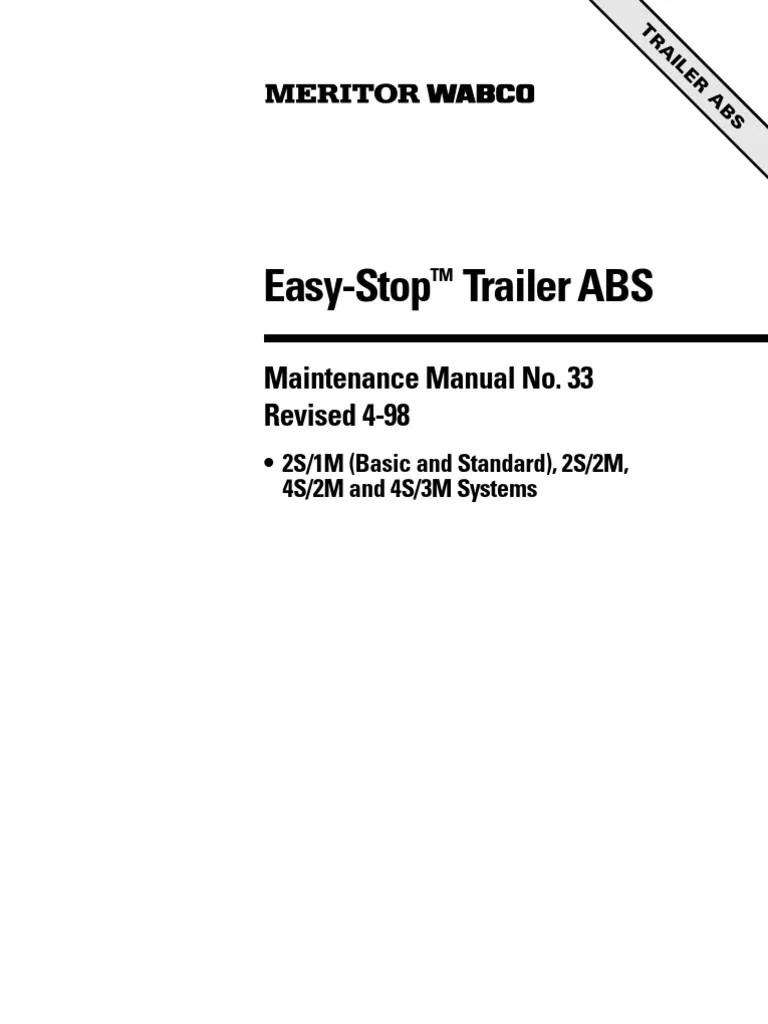 medium resolution of wabco abs wiring diagram trailer wabco image meritor wabco s easy stop trailer abs mm33 on