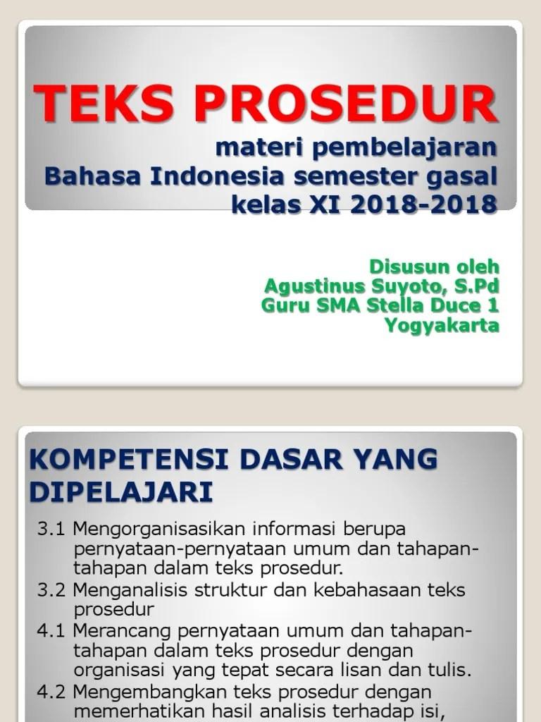 Pernyataan Umum Teks Prosedur : pernyataan, prosedur, Teks-prosedur