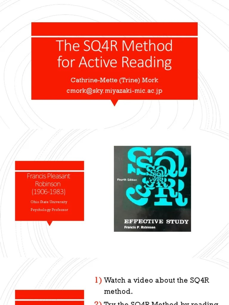 SQ4R | Reading Comprehension | Educational Psychology | Free 30-day Trial | Scribd