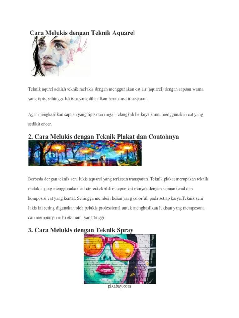 Langkah Langkah Melukis Dengan Teknik Plakat : langkah, melukis, dengan, teknik, plakat, Melukis, Dengan, Teknik, Aquarel