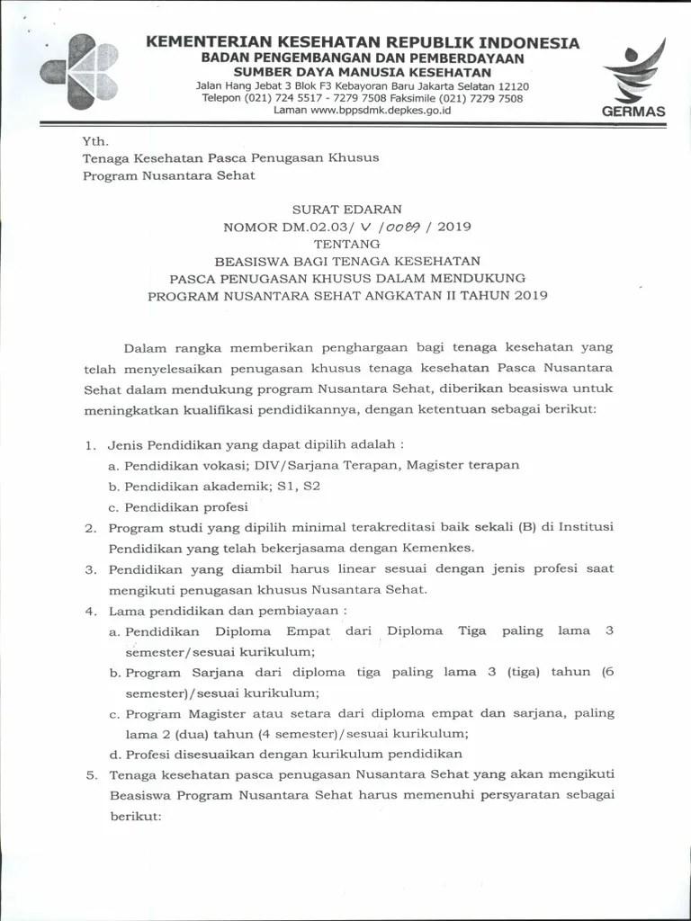 Tubel Kemenkes 2019 : tubel, kemenkes, Surat, Edaran, Tubel, Angkatan, Tahun, 2019.pdf