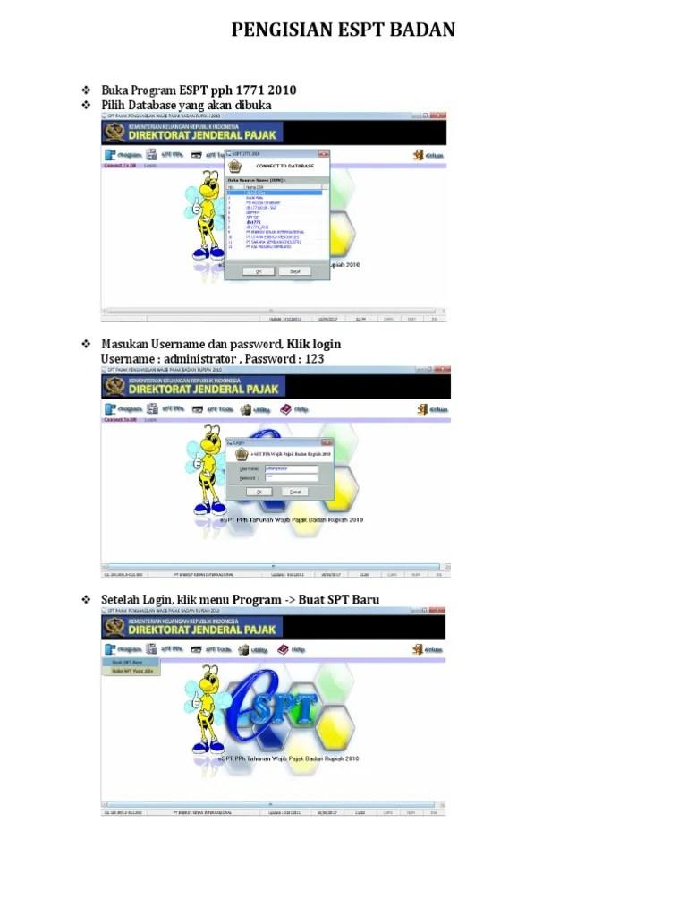 Password Espt Badan : password, badan, Program, Pilih, Database, Dibuka