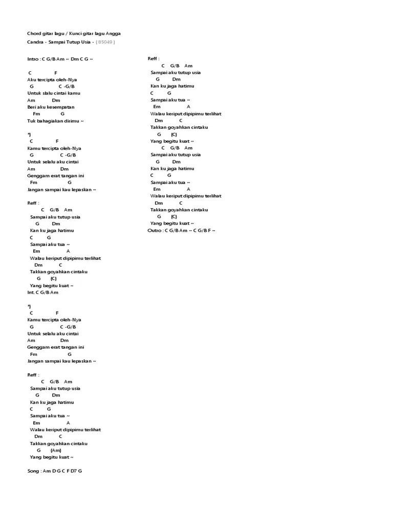 Lirik Lagu Sampai Tutup Usia : lirik, sampai, tutup, Sampai, Tutup, Chord