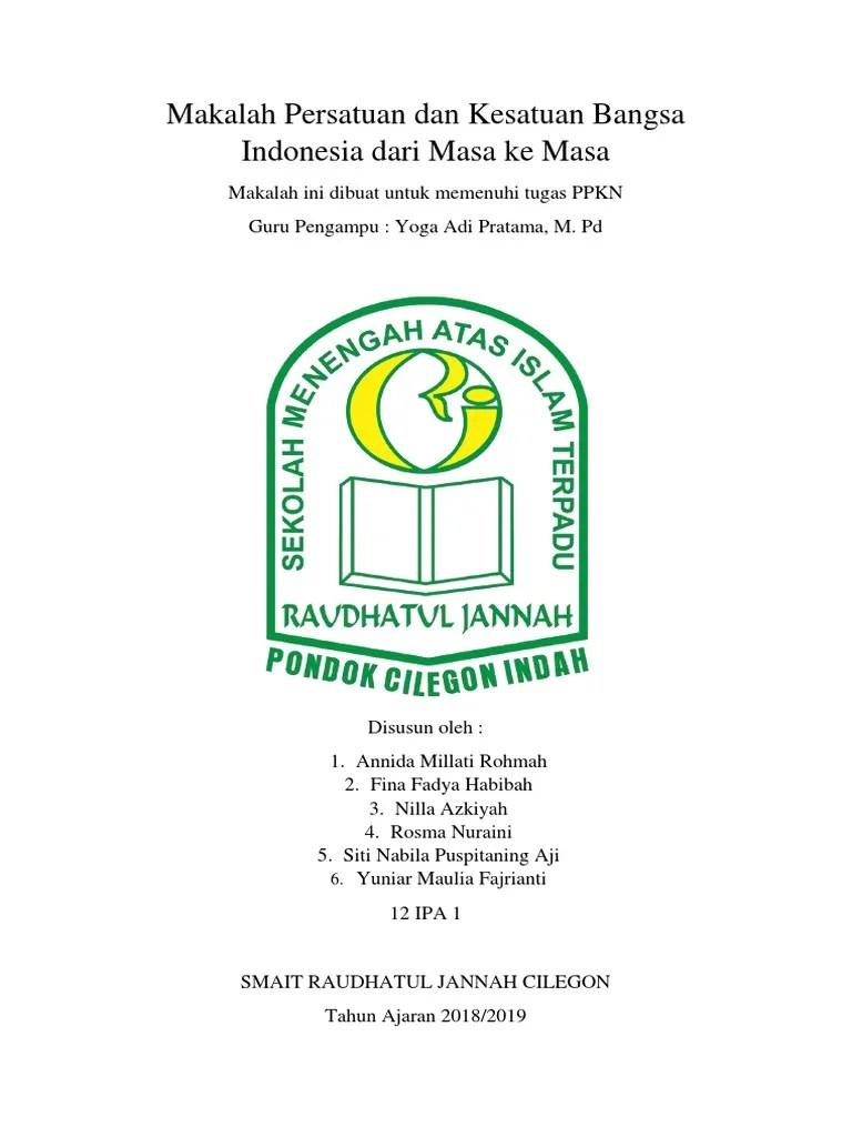 Makalah Persatuan Dan Kesatuan Bangsa : makalah, persatuan, kesatuan, bangsa, Makalah, Persatuan, Kesatuan, Bangsa, Indonesia