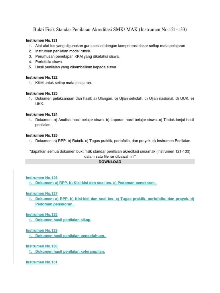 Download Bukti Fisik Akreditasi Smk : download, bukti, fisik, akreditasi, Bukti_Fisik, Standar, Penilaian, Akreditasi, SMK2019_2020.docx