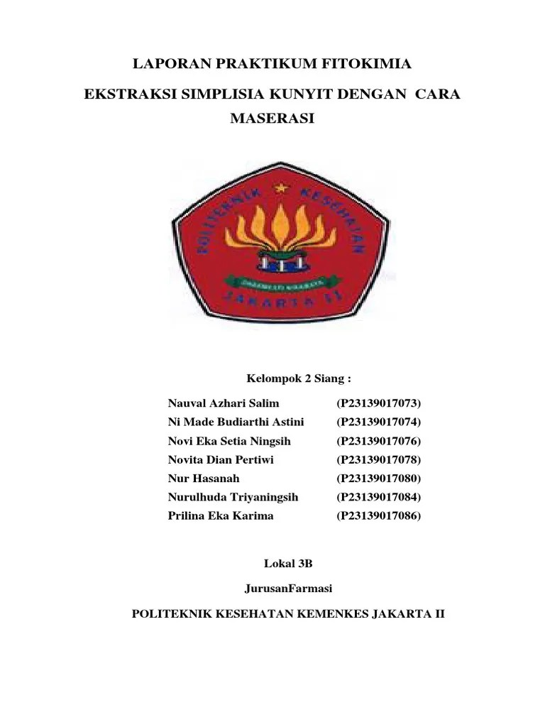 Laporan Praktikum Maserasi : laporan, praktikum, maserasi, Maserasi
