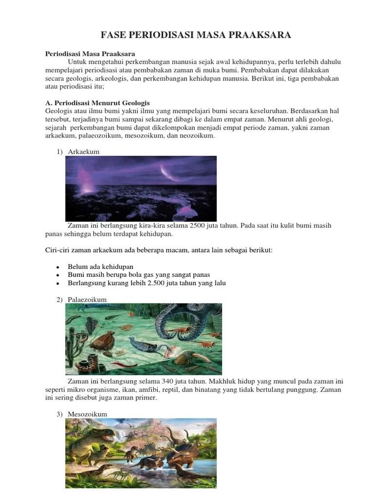 Pembabakan Zaman Pra Aksara Berdasarkan Arkeologi : pembabakan, zaman, aksara, berdasarkan, arkeologi, Periodisasi, Praaksara