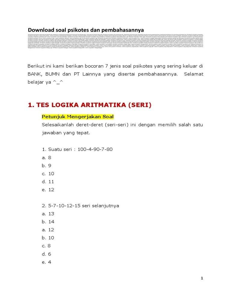Contoh Soal Aritmatika Cpns : contoh, aritmatika, Pembahasan, Aritmatika, Logika, IlmuSosial.id