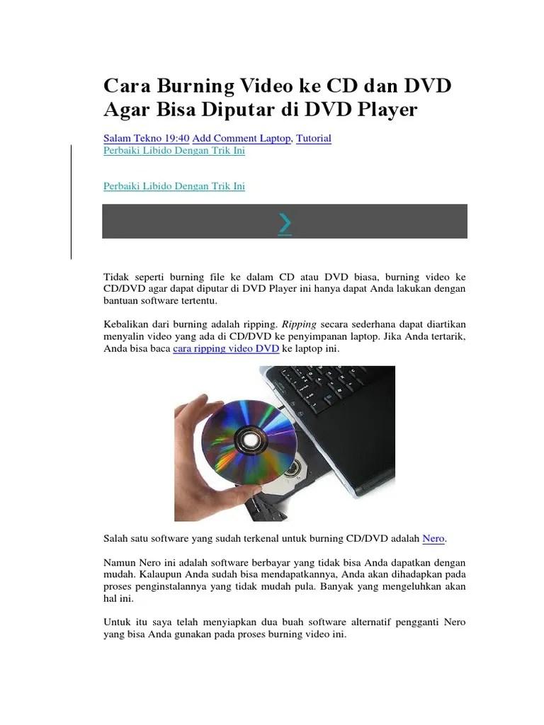 Cara Burning Video Ke Dvd : burning, video, Burning, Video, Diputar, Player.docx