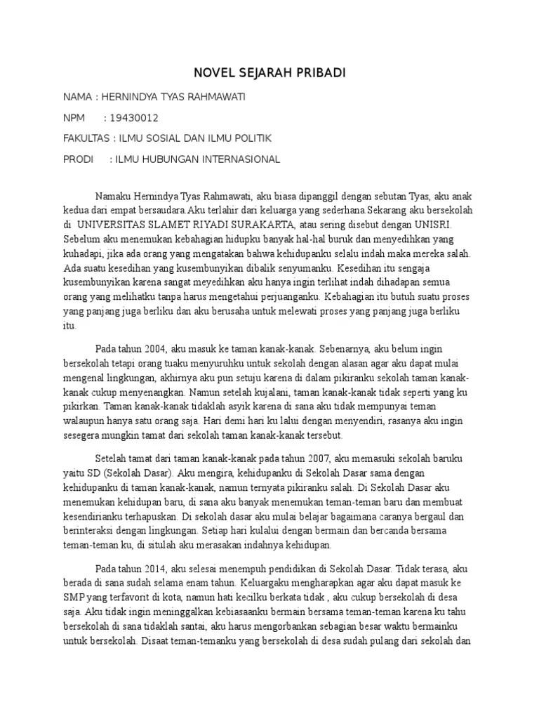 Contoh Cerita Sejarah Pribadi : contoh, cerita, sejarah, pribadi, Novel, Sejarah, Pribadi